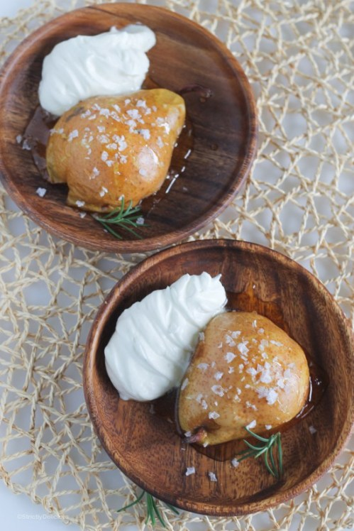 honey-roasted-pears-with-sea-salt-and-rosemary-whipped-cream-3