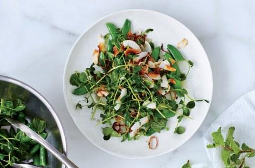 snap-pea-salad-with-coconut-gremolata